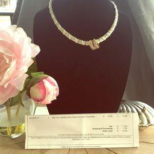 18k Gold Over Sterling Diamond Necklace & Earrings